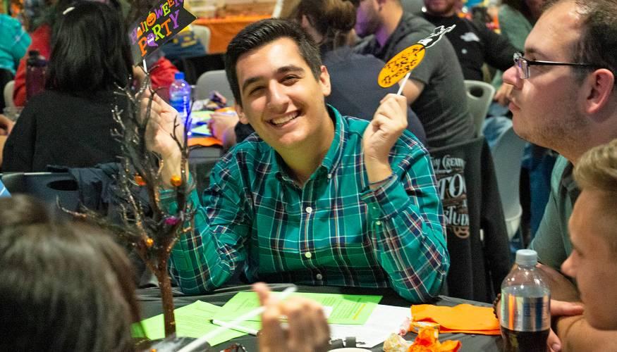 PTK student Jorgo Gushi enjoys the evening.