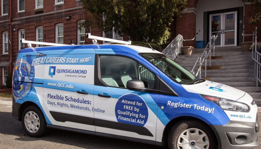 The new QCC van will bring added exposure to higher education opportunities.
