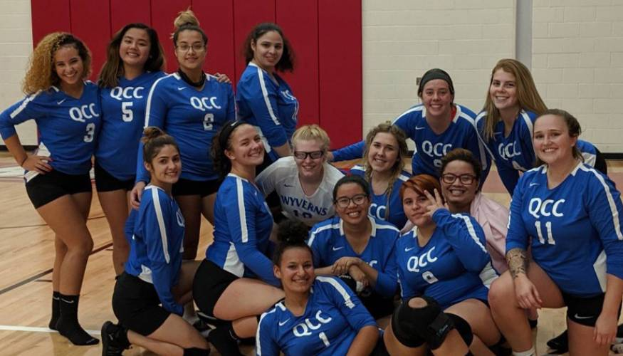 QCC's new Women's Volleyball team