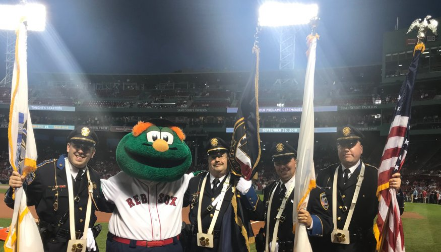 QCC Honor Guard: DC Stephen DiGiovanni, Wally, DC Rodriguez , Off. LaBranche