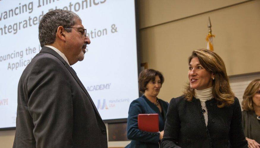 Dr. Pedraja and Lt. Governor Karyn Polito.