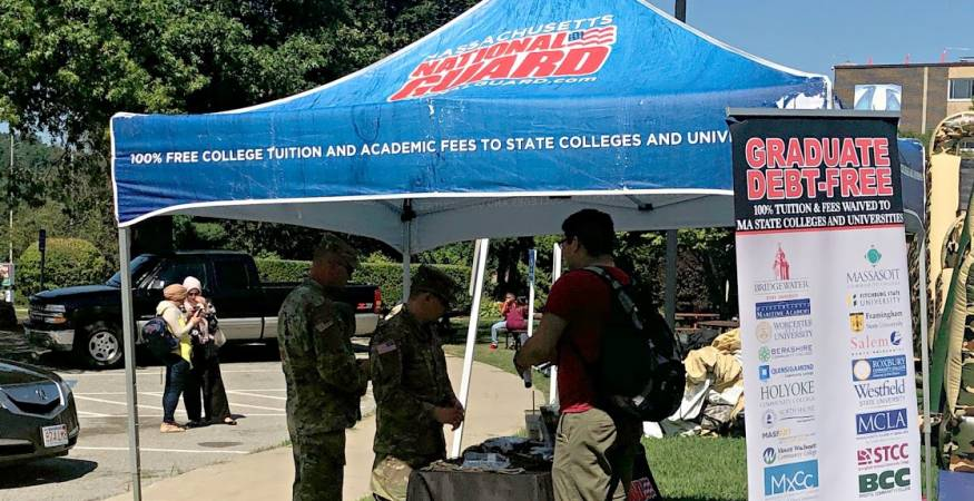 National Guard Tent at the Welcome Fair