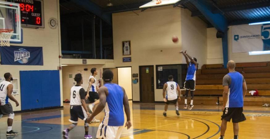 Men's Alumni Basketball Fundraiser Players