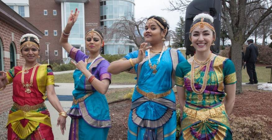 students wear authentic garb at cultural fest