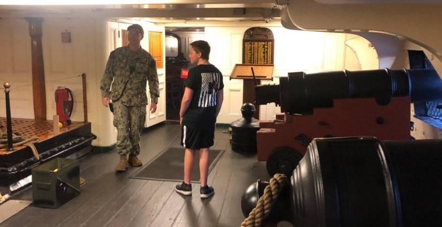 QCC Veterans Club at the USS Constitution