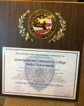 QCC Campus Police Accreditation Award.