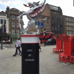 Londoners seem unfazed by the QCC Wyvern.